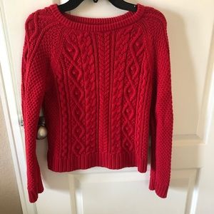 Gap Kids Cable Knit Sweater Red XXL